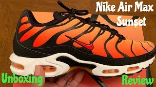 Nike Air Max Plus OG Sunset. Unboxing