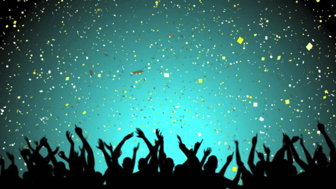free video loop of party crowd with white and gold confetti youtube
