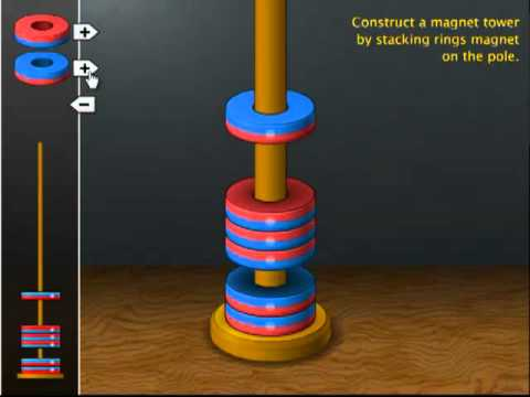 Magnet Tower Simulation - YouTube