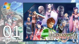 Phantasy Star Universe 【PC】 - Story Playthrough Pt.1 「Chapter 1: Of Light and Darkness」