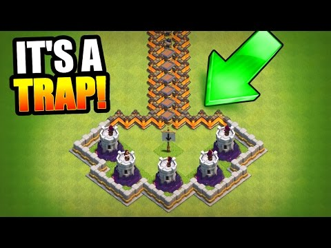 Thumbnail: HARDEST TROLL BASE EVER!? 🔥 Clash Of Clans 🔥 MINI GAME BASE!