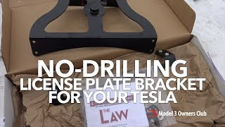 A no-drilling licence plate bracket for your Tesla | Model 3 Owners Club