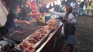 Japanese street food teppanyaki イカ焼き 雑司が谷鬼子母神御会式 粋に焼く