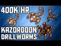 [Tibia Where to Hunt – RP 80+] Kazordoon Drillworms East & West (400k/hr @ 103)