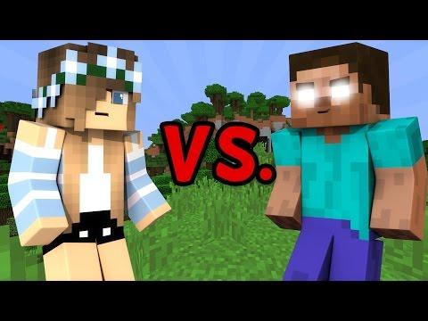 GIRL vs. HEROBRINE - Minecraft