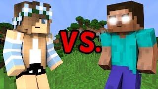 Repeat youtube video GIRL vs. HEROBRINE - Minecraft
