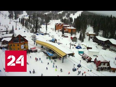 """""""Погода 24"""": поселок Шерегеш превратился в один большой сугроб - Россия 24"""
