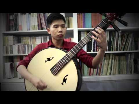 Demo of Basswood Beijing Daruan with steel frets by Song Guang Ning
