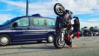 STUNT DEVANT LA GENDARMERIE Toulouse, Villa & Recontre Holly Riders 2.0