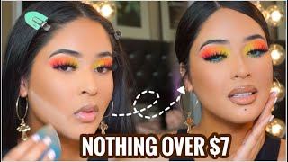FULL FACE UNDER $7: DRUGSTORE FULL COVERAGE GLAM | AFFORDABLE MAKEUP TUTORIAL + MAKEUP BRUSHES 🌴