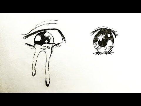 رسم عين انمي بطريقتين سهل جدا بالخطوات How To Draw Anime Eye