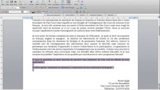 Exemple fictif CV et lettre de motivation