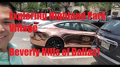 Exploring Highland Park Village in Dallas, Texas (BEVERLY HILLS of DALLAS)