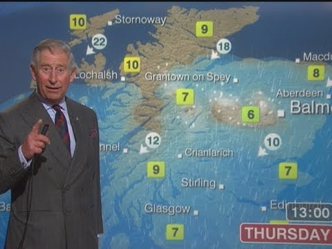 Prince Charles Reads The BBC Scotland Weather Forecast