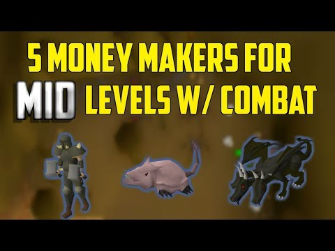 OSRS - Top 5 Combat Money Making Methods For MID Level Accounts