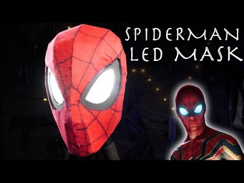 Make a Glowing Spider-Man Mask from Avengers Infinity Wars! - Easy $15 Build!!! + WEB SHOOTERS