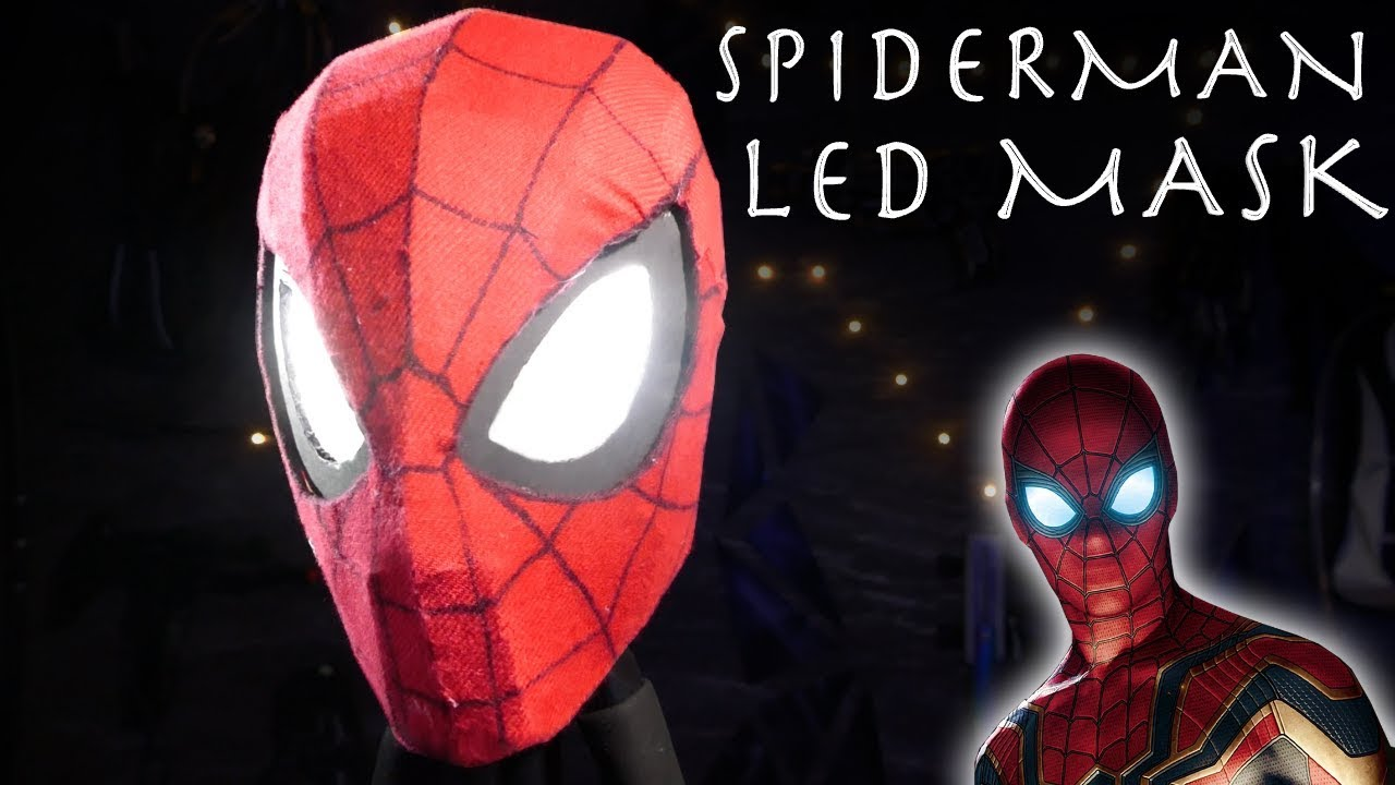 c5173b0954a Make a Glowing Spider-Man Mask from Avengers Infinity Wars! - Easy  15  Build!!! + WEB SHOOTERS