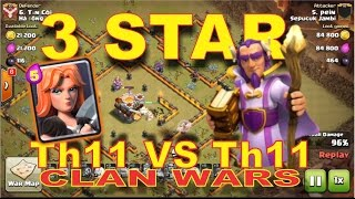 Valkyrie Th11 vs Th11 3 Star War Attack Strategy