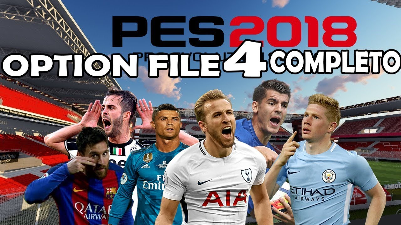 PES 2018 / OPTION FILE V3 PES UNIVERSE DEFINITIVO A FULL / TUTORIAL  COMPLETO PS4 PC