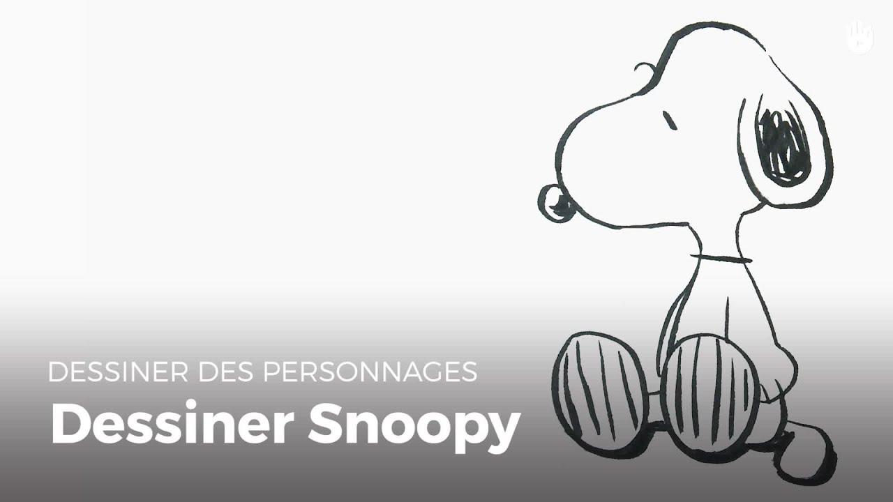 Dessiner snoopy peanuts dessiner des personnages youtube - Snoopy dessin ...
