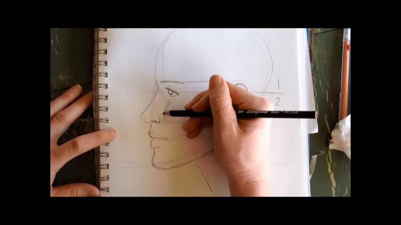 Line Drawing Of Human Face : How to draw a human face profile youtube