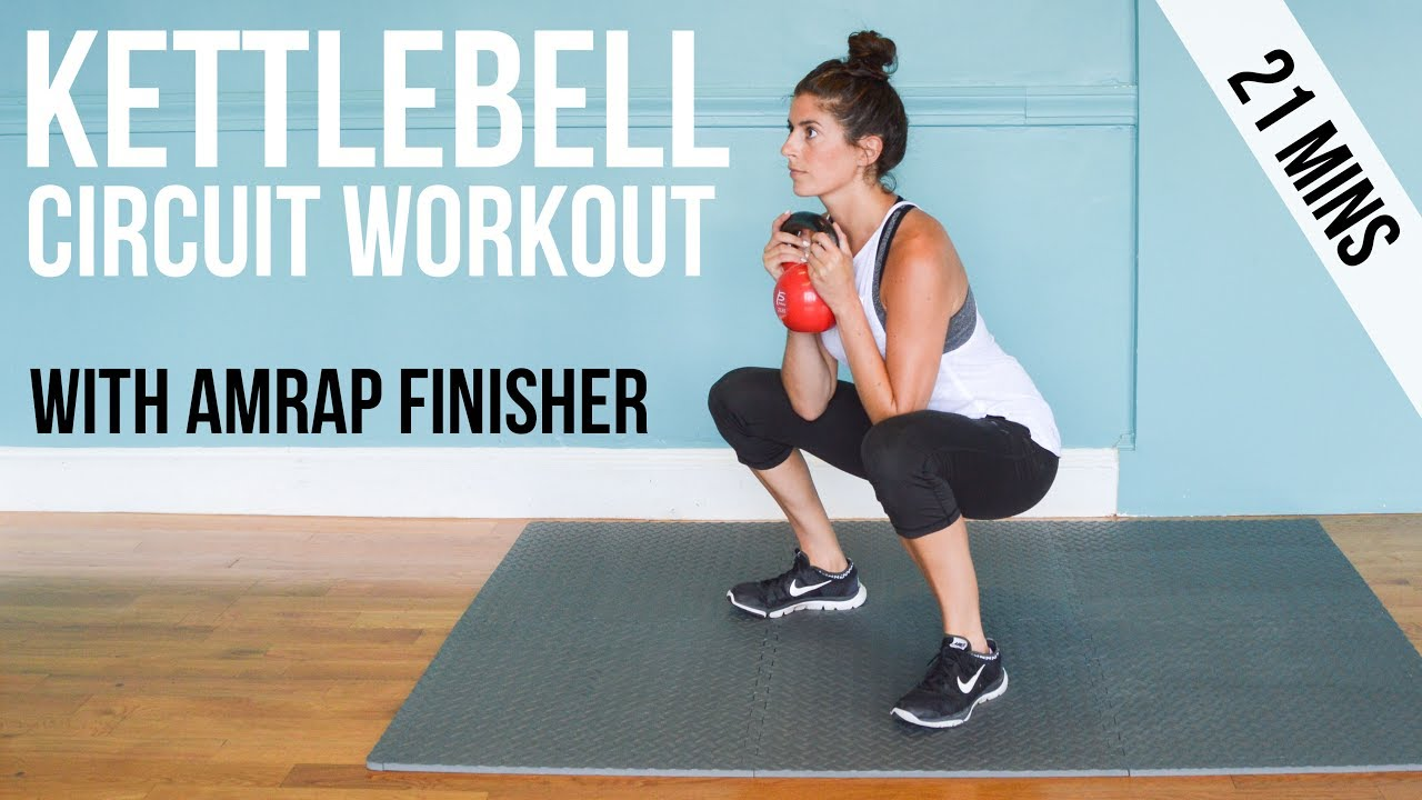 Kettlebell Circuit Workout With Amrap Finisher Youtube The Basic Training We Did Today
