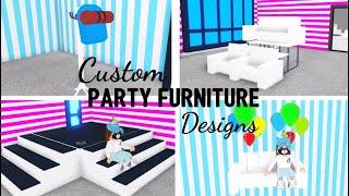 8 Custom PARTY FURNITURE Design Ideen & Gebäude Hacks (Roblox Adopt me) | Sein SugarCoffee