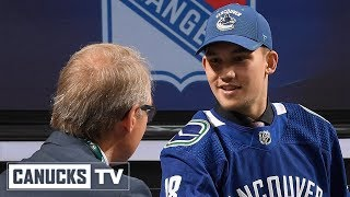 Canucks Draft Jett Woo 37th Overall at the 2018 NHL Entry Draft