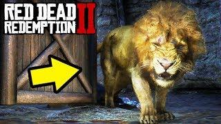 LEGENDARY LION WITH A RARE REWARD in Red Dead Redemption 2! RDR2 Secret Tips!