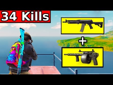 BEST WEAPONS IN BATTLE ROYALE | 34 KILLS | Call Of Duty Mobile