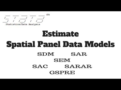 How to Estimate Spatial Panel Data Models in Stata