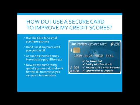 How Used Secured Credit Card To Improve My Credit Scores