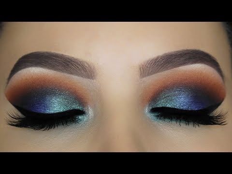 Blue Brown Smokey Eye tutorial