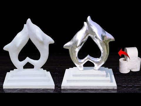 Tissue Paper Showpiece making  // Dolphin Showpiece // Home decor ideas