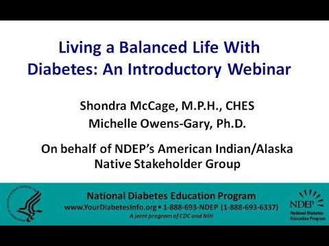 Living a Balanced Life with Diabetes: An Introductory Webinar