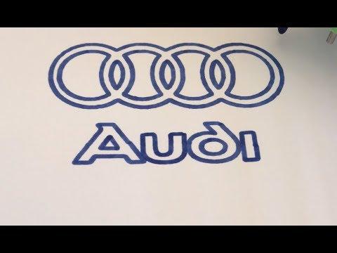 Drawing Of Audi Logo Youtube