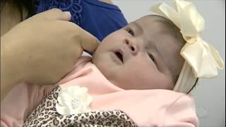 Bebê de 6 kg surpreende os médicos
