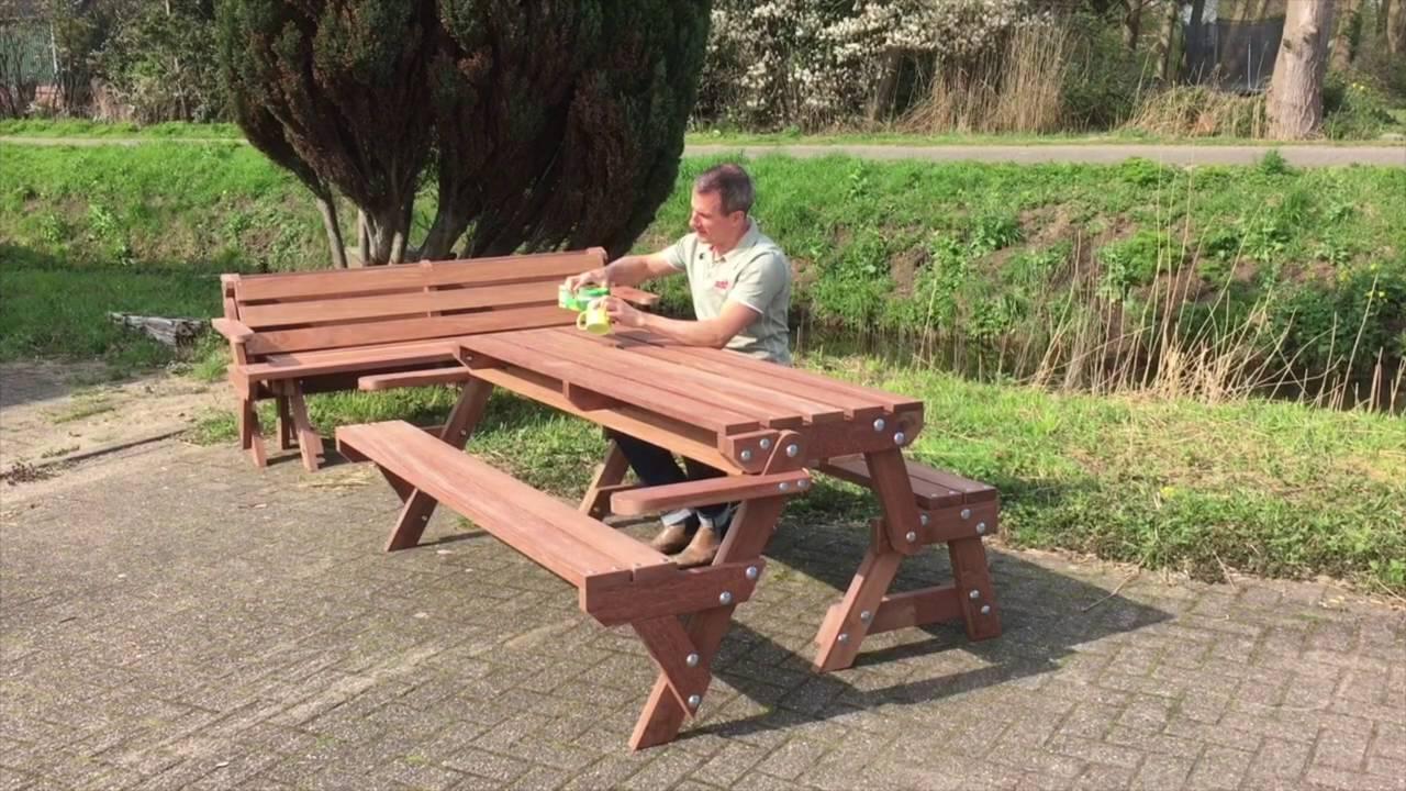 Opklapbare picknick tafel youtube for Opklapbare tafel