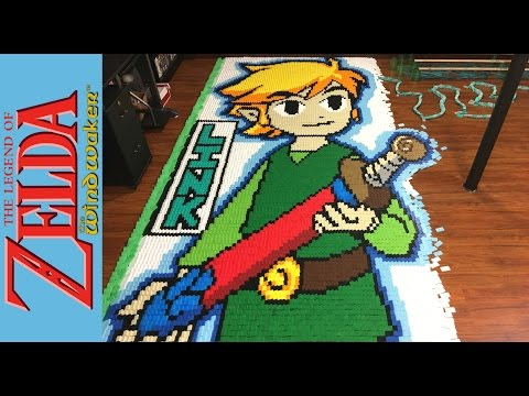 "Thumbnail: The Legend of Zelda the Wind Waker ""In 78,175 Dominoes!"""