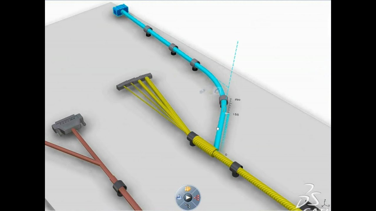 catia v6 electrical engineering wire harness design flattening formboard drawing ui tools [ 1280 x 720 Pixel ]