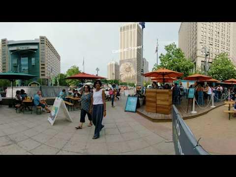 Campus Martius Park 360 Video - Visit Detroit