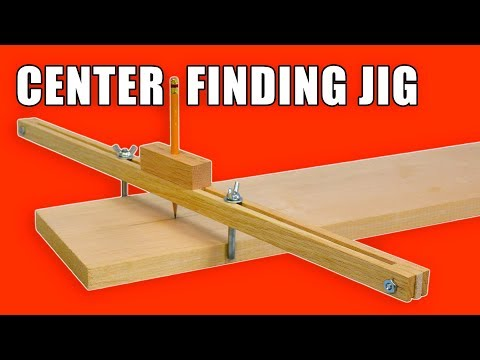 Homemade Center Finder Jig / Centre Marking Jig