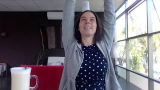 Kurze YogaBreak für Schultern und Nacken im Anttu Café, Curicó