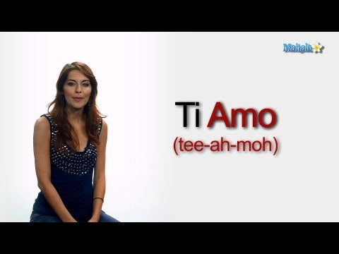 Ti amo pronunciation