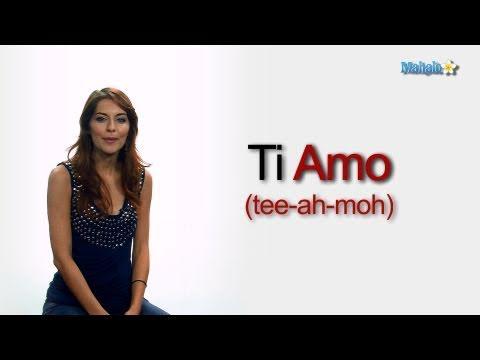 How To Say I Love You In Italian Youtube