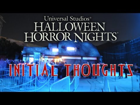 Halloween Horror Nights 2018 - Initial Thoughts