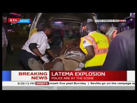 One person injured in an explosion at the Latema - Tom Mboya Street junction