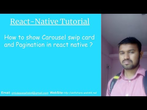 How to show Carousel swip card and Pagination in react native ?