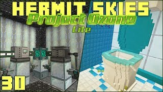 Hermit Skies 30 HDPE Farm & The Toilet Game (Project Ozone Lite Skyblock Modded Minecraft)