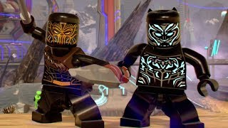 All Black Panther Movie DLC Characters Unlocked - LEGO Marvel Super Heroes 2